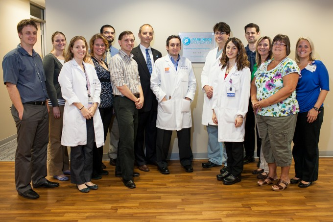 Just a small part of the team that makes up the UF Parkinson Disease Center of Excellence